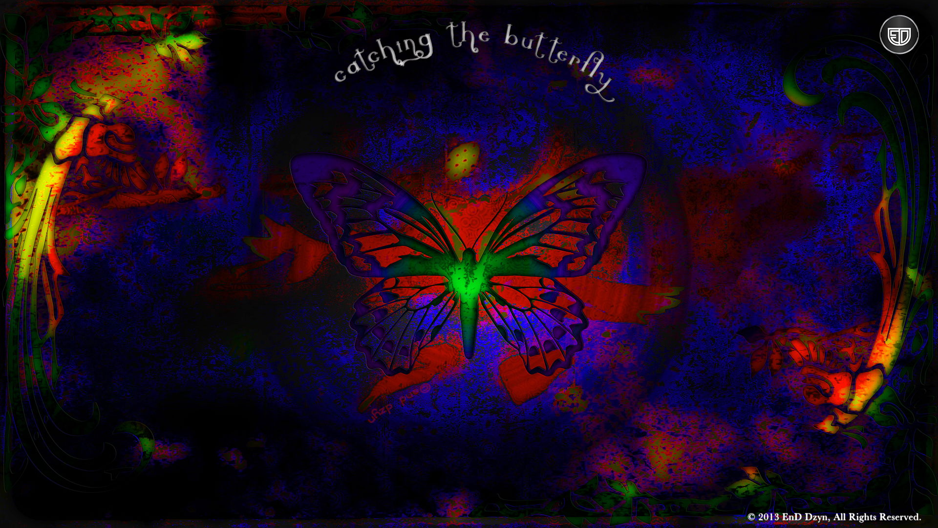 Catching the Butterfly Abstract HD Wallpaper Backgrounds   EnD Dzyn 1920x1080