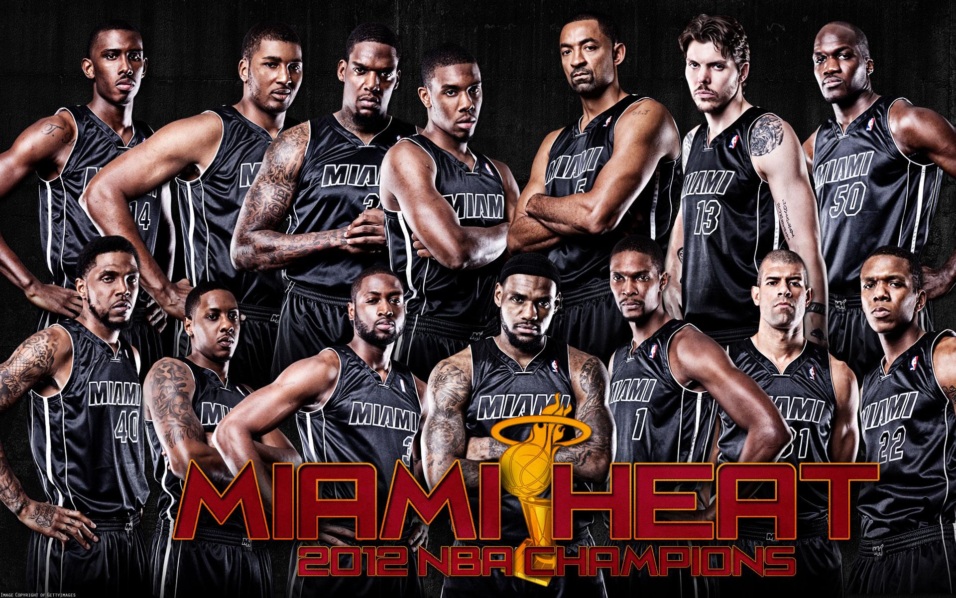 Miami Heat Team 2013 Wallpaper for Desktop 1920x1200