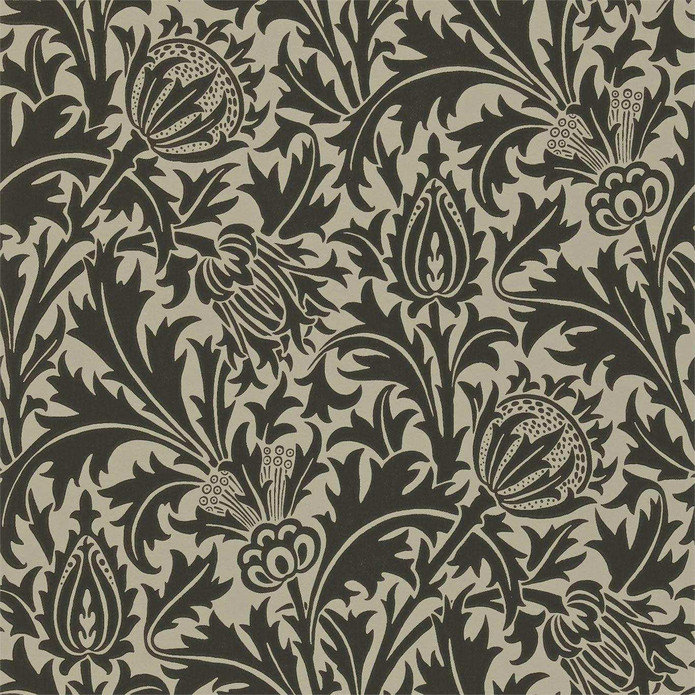 Black Linen   DMOWTH103   Thistle   Morris V   Morris Co Wallpaper 1366x1366