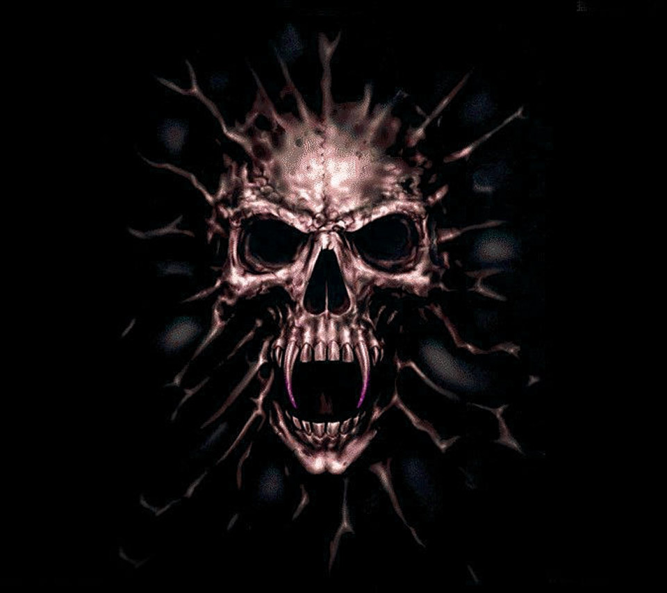 Evil Wallpapers: Evil Skull Wallpaper