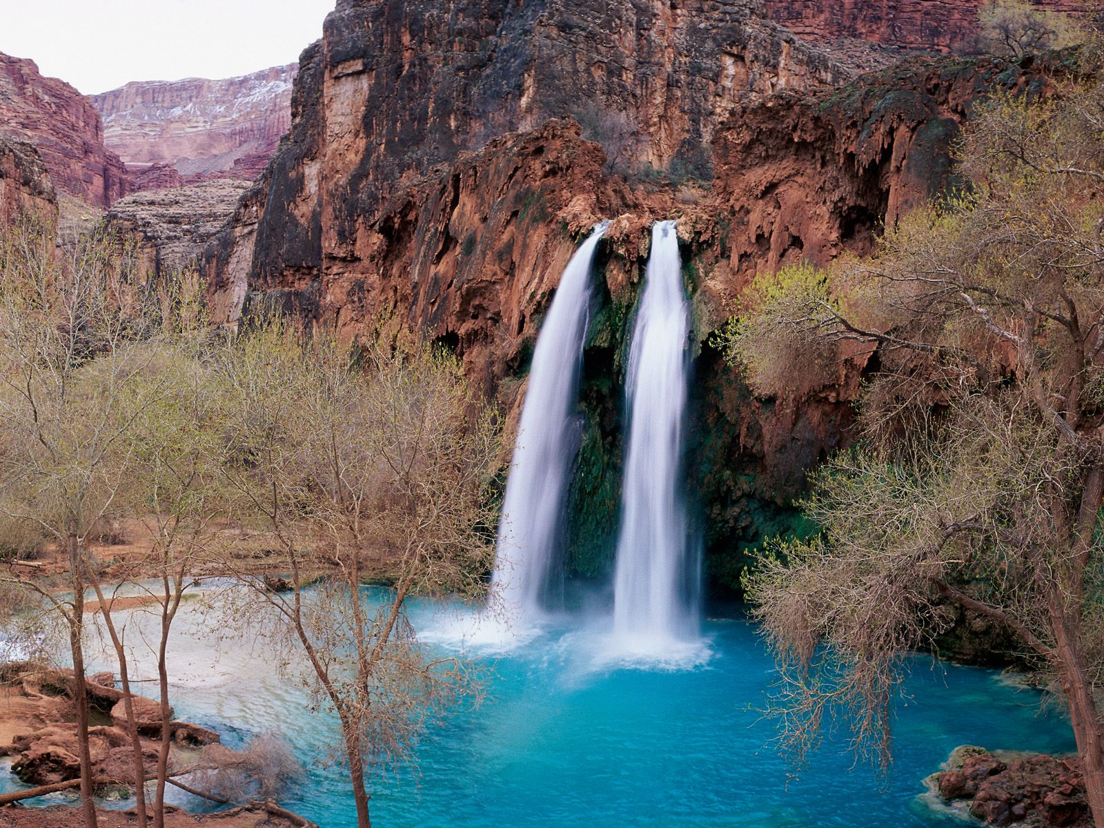 At The Beautiful Havasu Falls In Arizona HD Walls Find Wallpapers 1600x1200