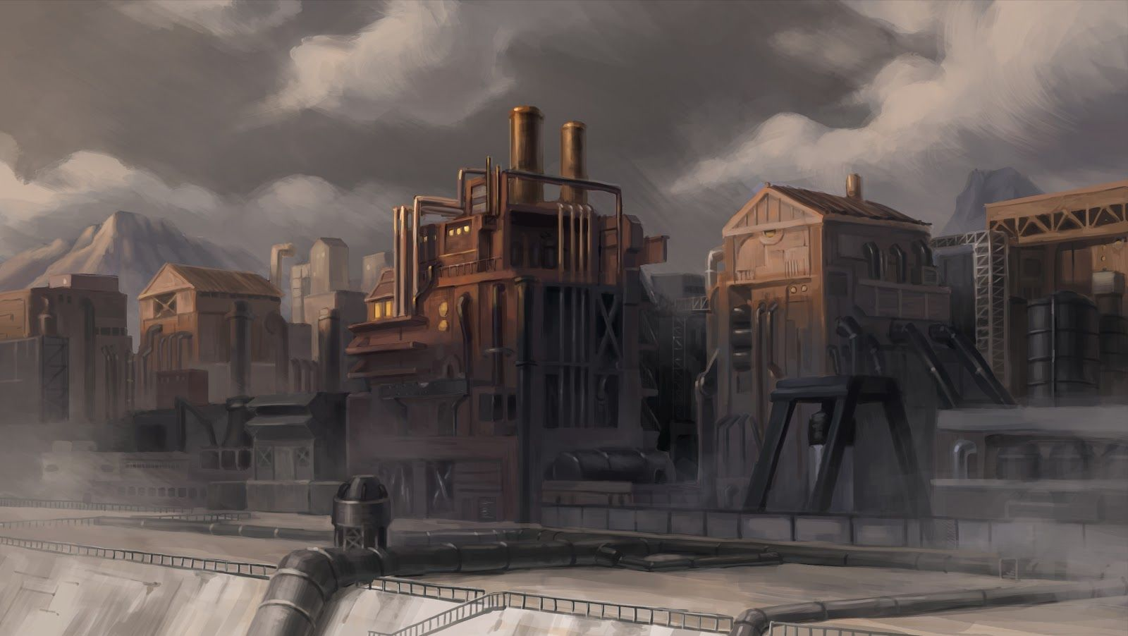 The Legend of Korra Background Paintings the art of legend of 1600x902