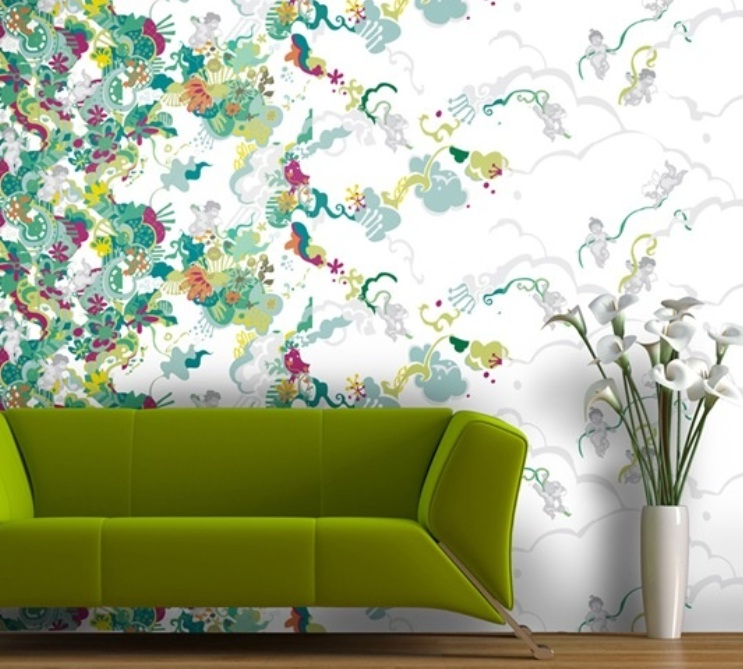 Ideas Wall Decor Design with 3D Wallpaper   nijihomedesign 743x669