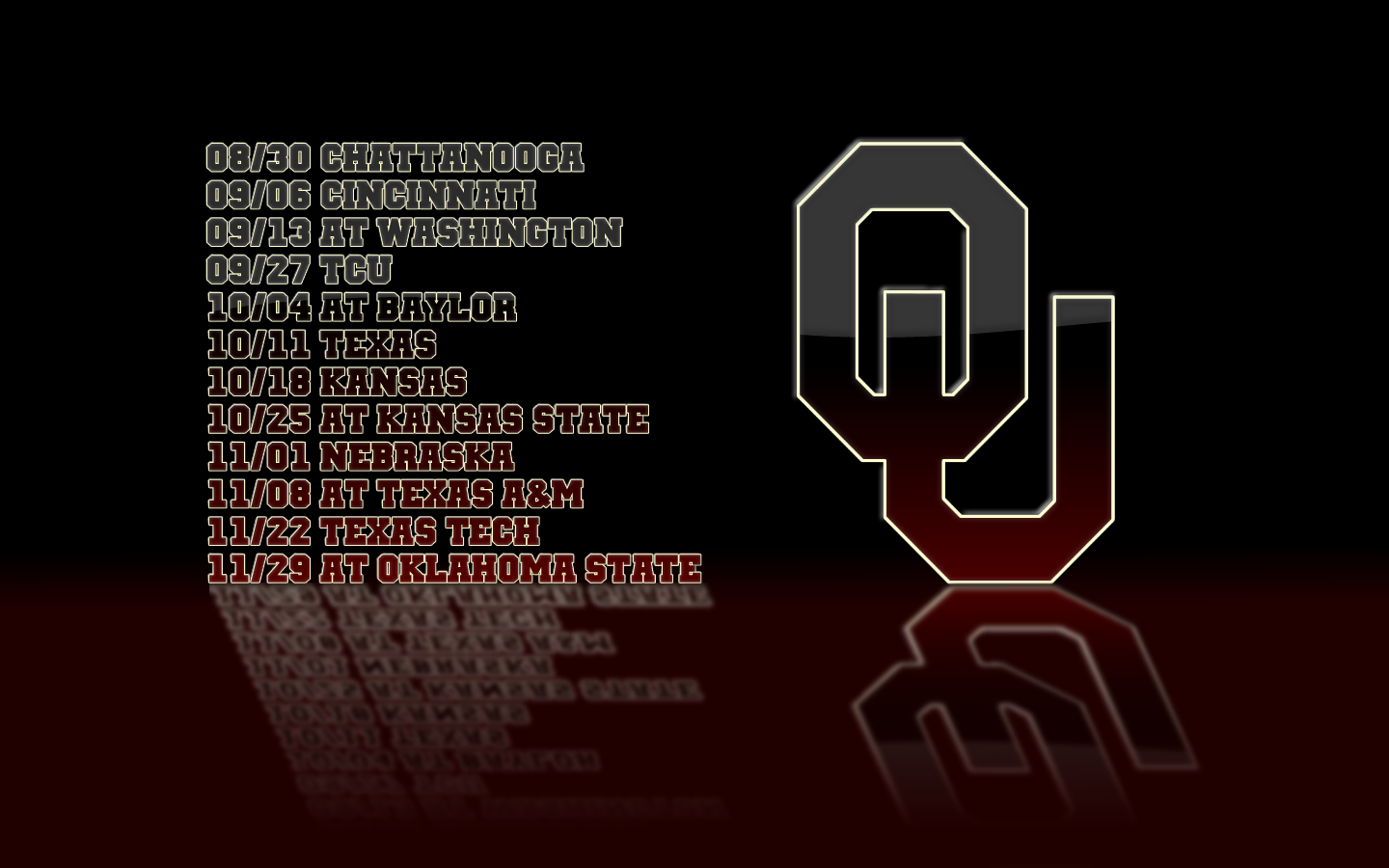 Show your Sooner pride with one of these 1440x900