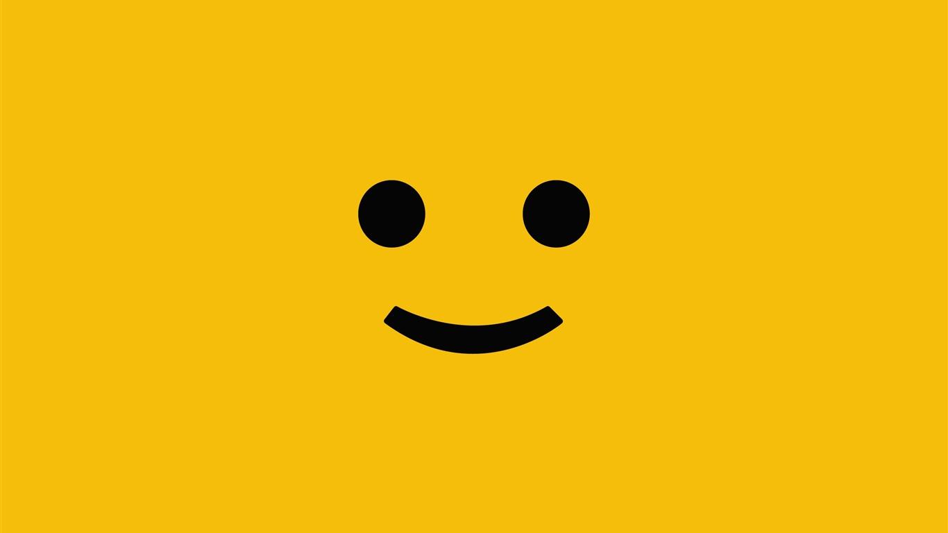 smiley face Cute funny design desktop picture   1366x768 wallpaper 1366x768