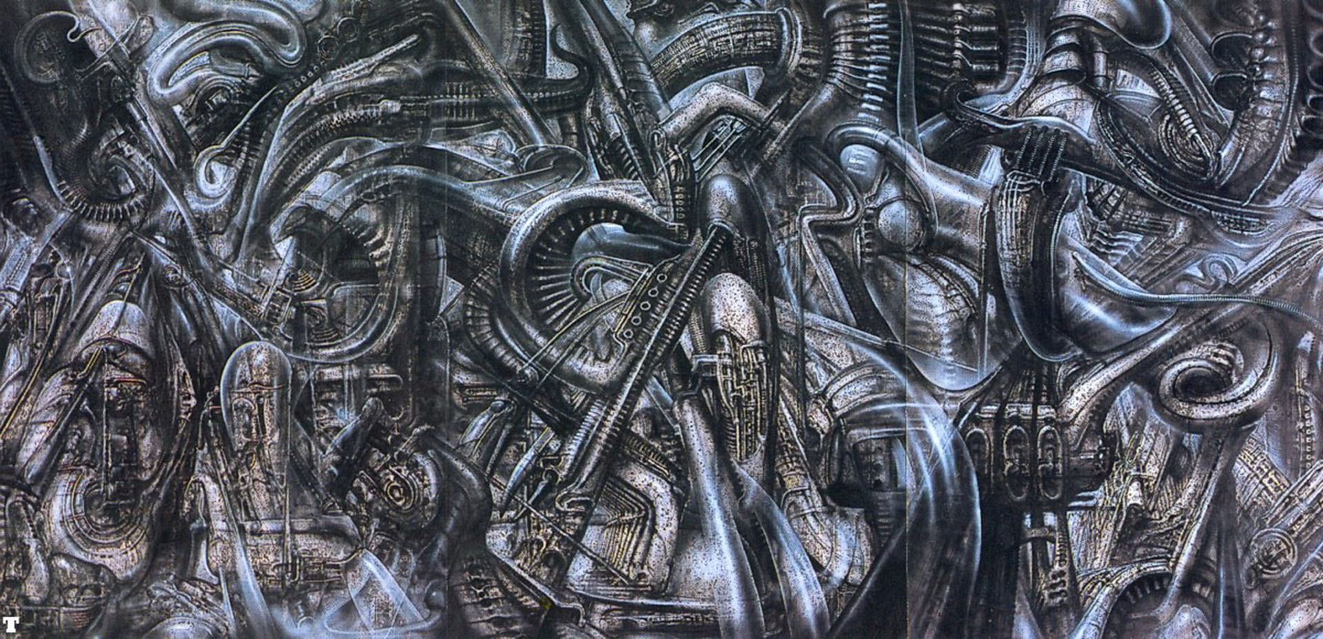 Newyorkcity Xxvi - Science Fiction H R Giger Wallpaper Image HTML code H.r. Giger Wallpaper