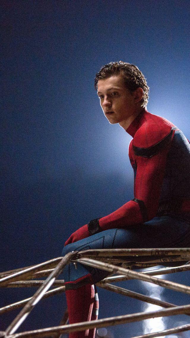 Wallpaper Spider Man Homecoming 4k 8k Tom Holland Marvel 640x1138