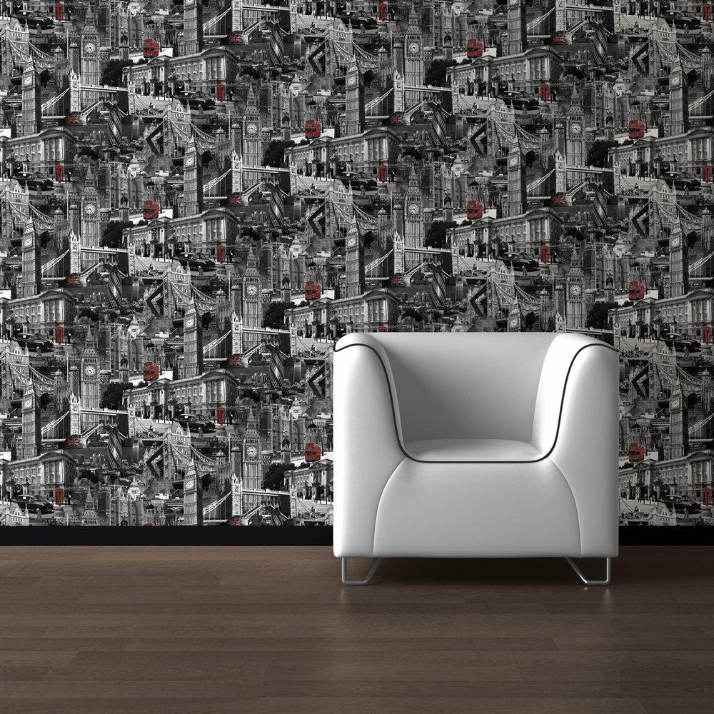 Free Download Muriva London City Designer Feature Wallpaper