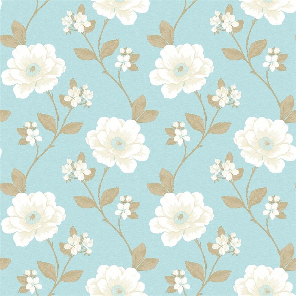 Cream and blue wallpaper wallpapersafari for Cream wallpaper for walls