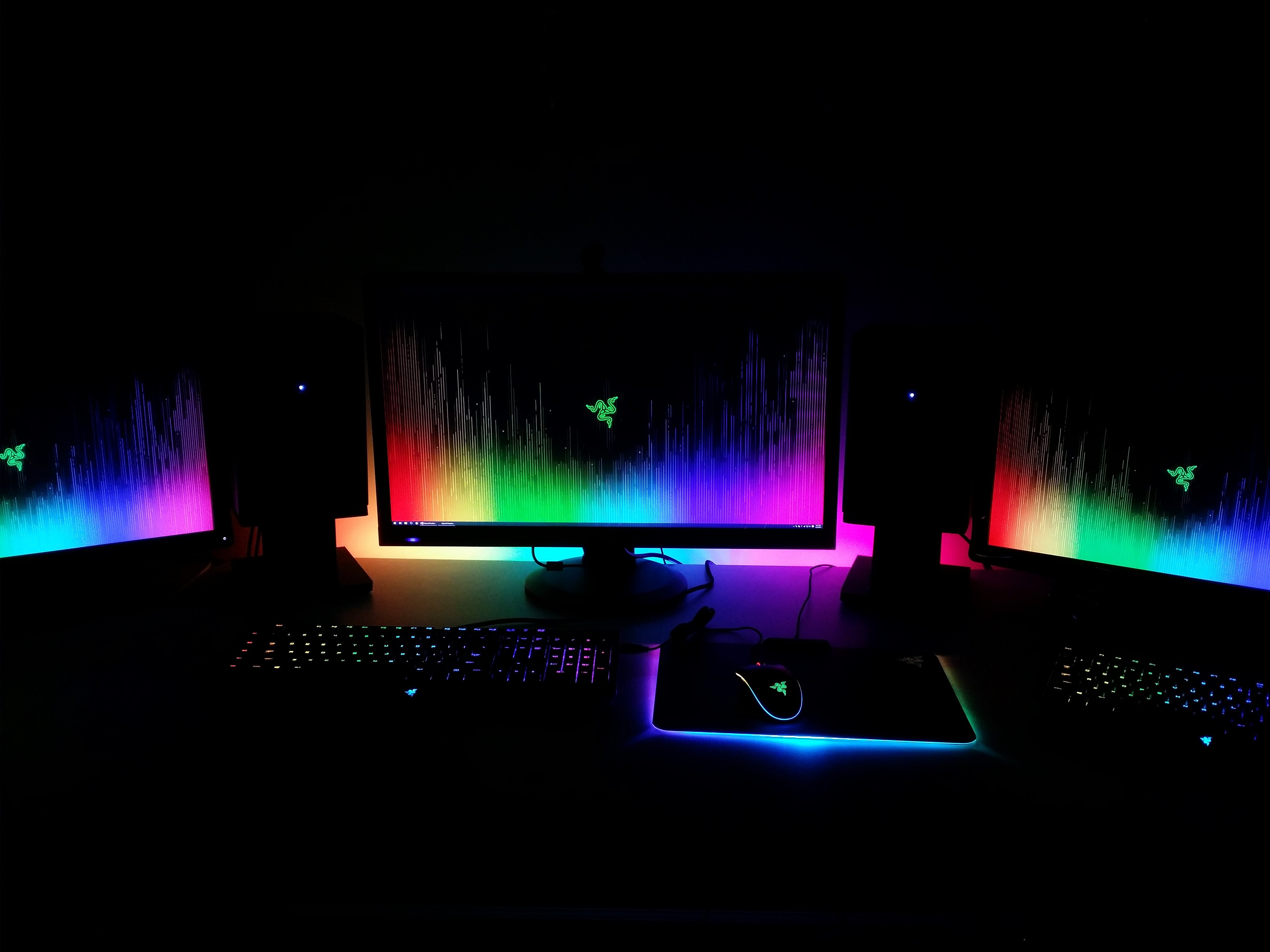Heres my Chroma setup to go along with the new wallpaper razer 4128x3096