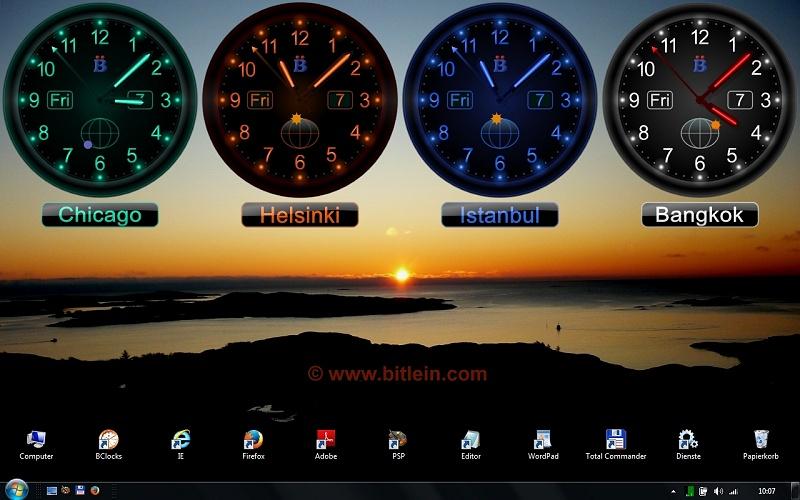 an wie Sie BClocks Uhren auf Ihrem Windows Desktop nutzen knnen 800x500