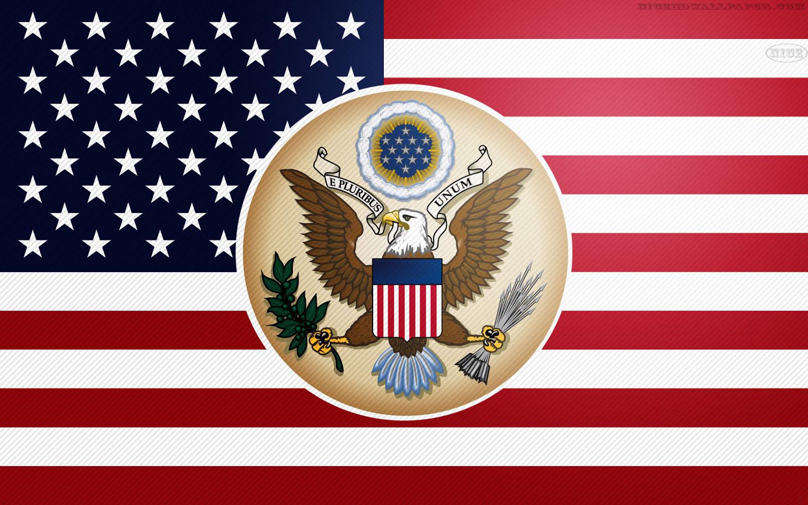 American Flag Eagle Wallpaper hd American Eagle And Flag 1600x1000