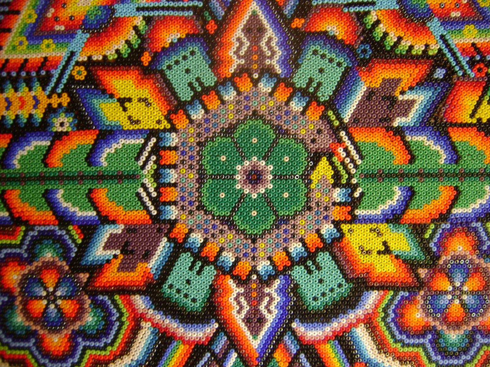huichol beaded art peyote flower   Xica Nation 1600x1200