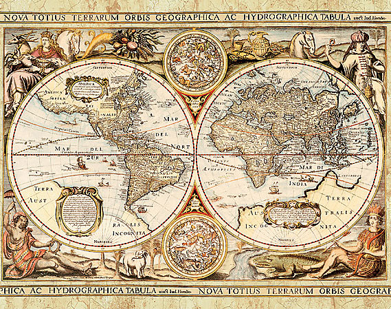 41 Old World Map Wallpaper Border On Wallpapersafari