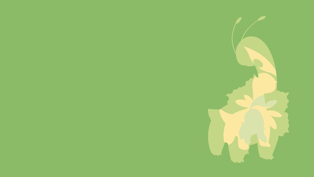 Chikorita Evolution Line Minimalist Wallpaper by BrulesCorrupted 1024x576