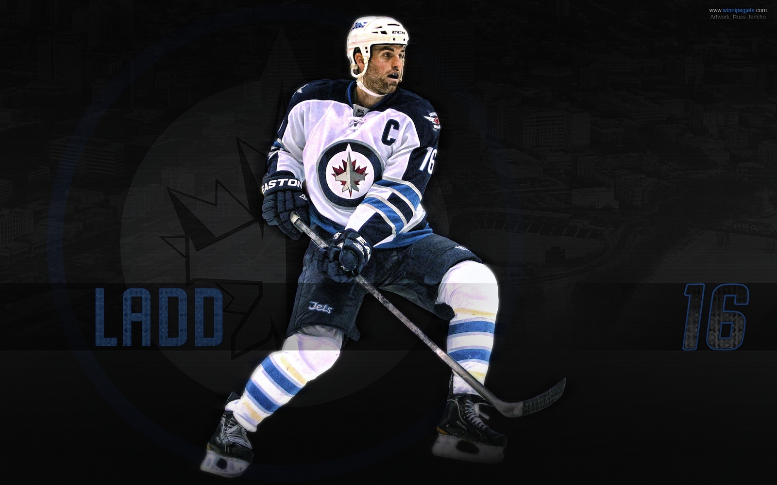hockey Andrew Ladd Winnipeg Jets wallpaper background 1600x1000