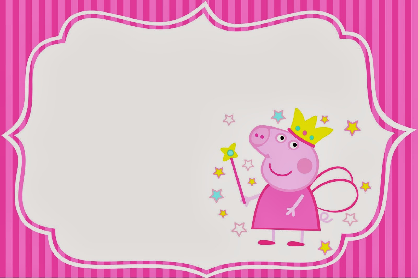 Free Download Peppa Pig Fairy Invitations And Party Printables Oh My
