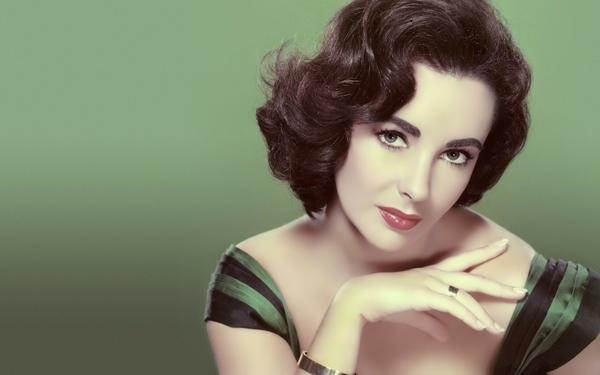 vintage actress elizabeth taylor green background 1920x1200 wallpaper 600x375