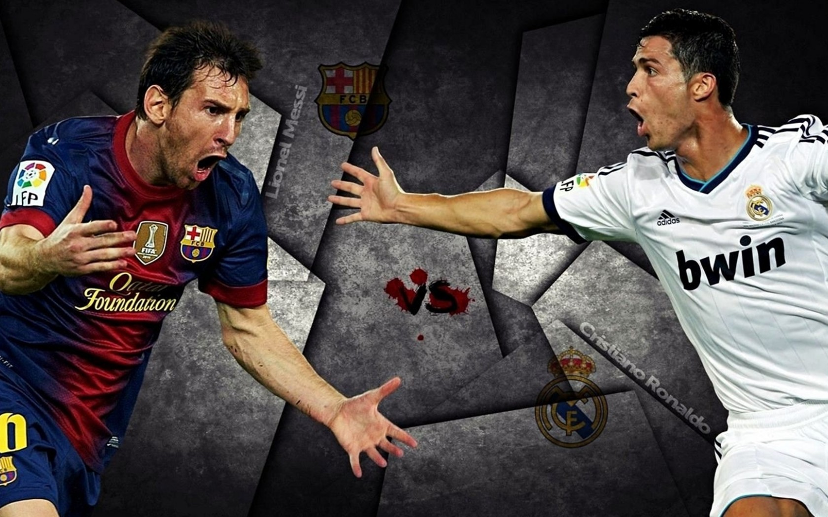 Messi and Ronaldo High Definition Wallpaper   Football HD Wallpapers 1680x1050