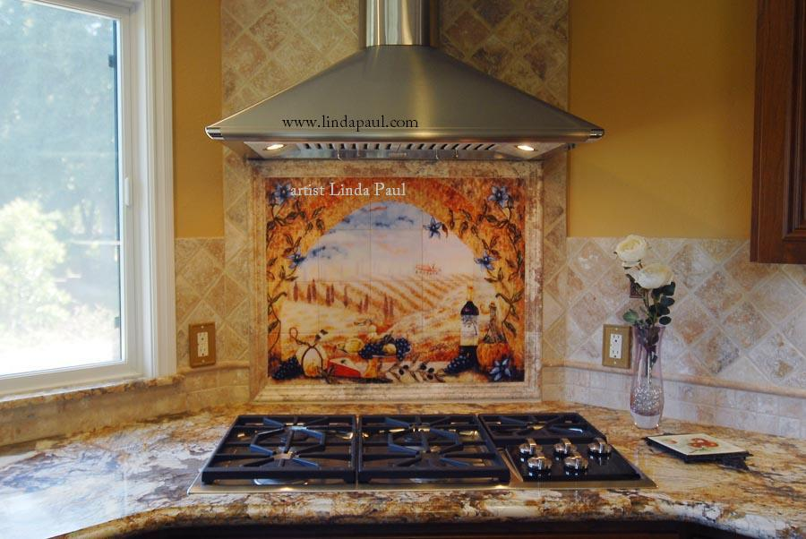 The mural was installed without grout with the tiles pressed tight 900x602