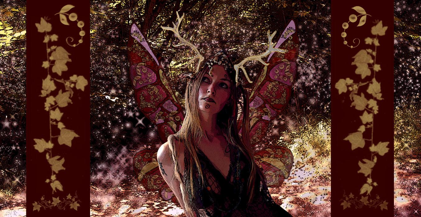Wiccan Moon Goddess Wallpaper The goddess of the forest by 1355x700