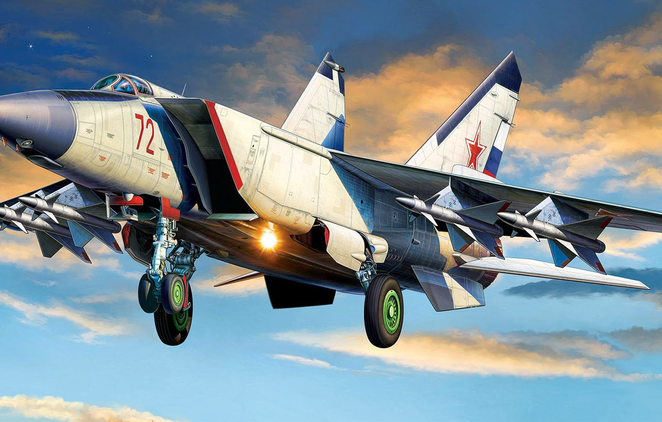 Wallpaper The Russian air force The MiG 25 Foxbat twin engine 1332x850