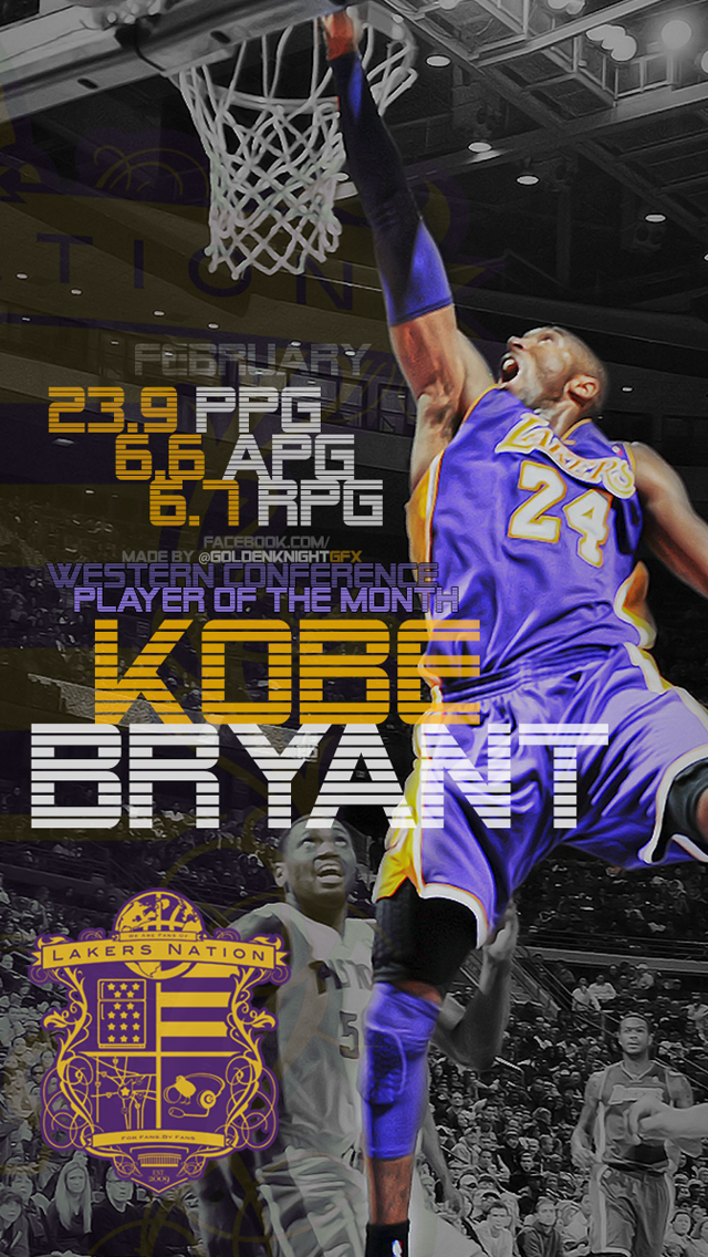 Kobe bryant iphone wallpaper wallpapersafari - Kobe bryant wallpaper free download ...