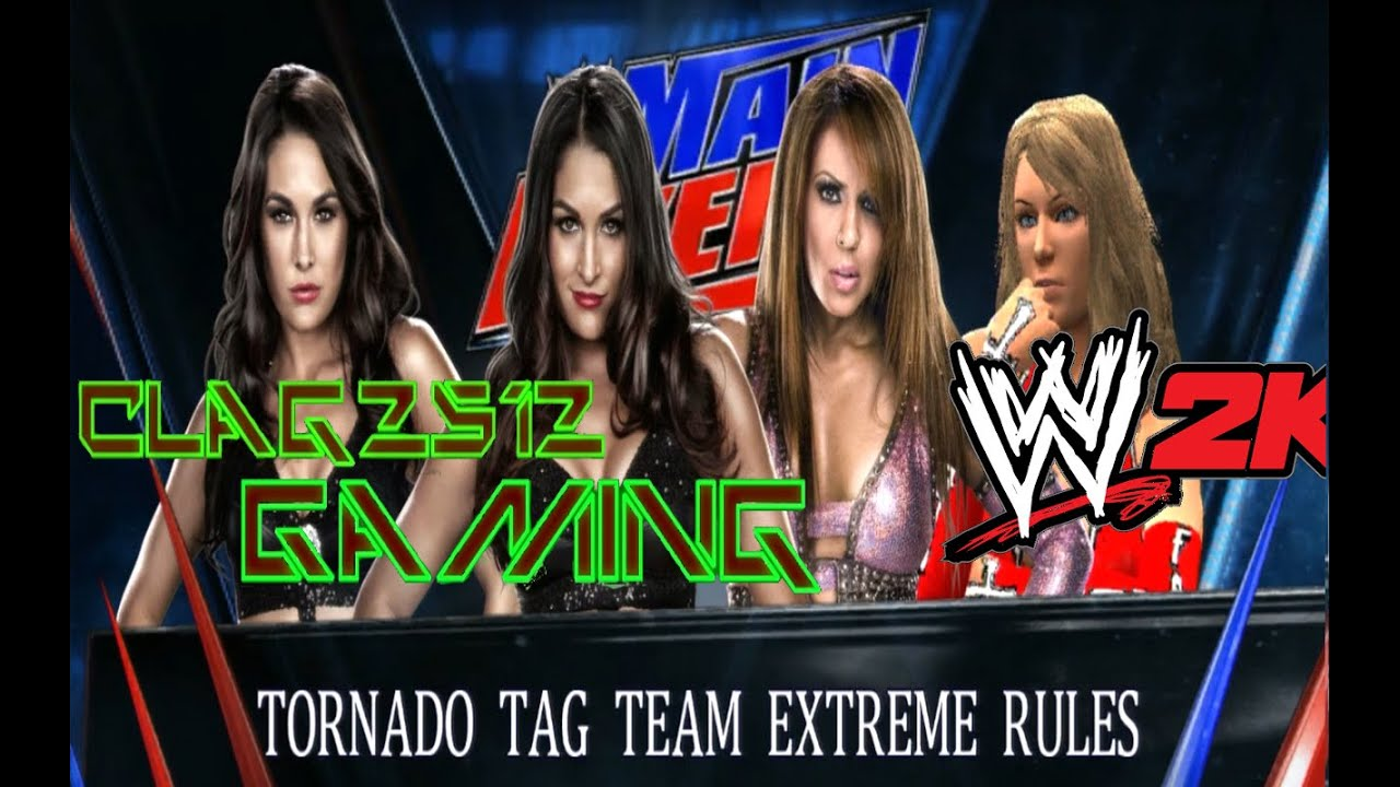 WWE 2K14 The Bella Twins Vs Lay Cool 1280x800
