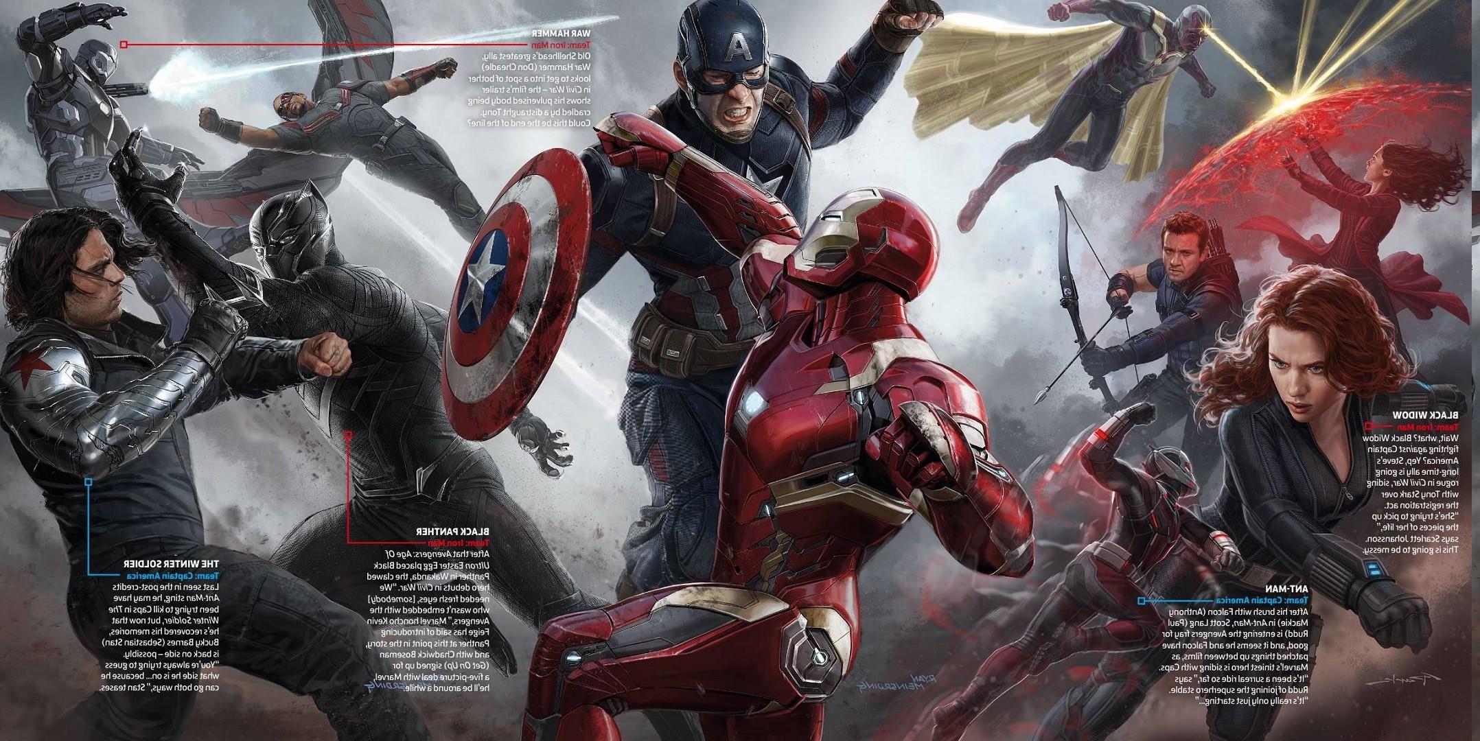 Captain America Captain America Civil War Iron Man Black Widow 2156x1080