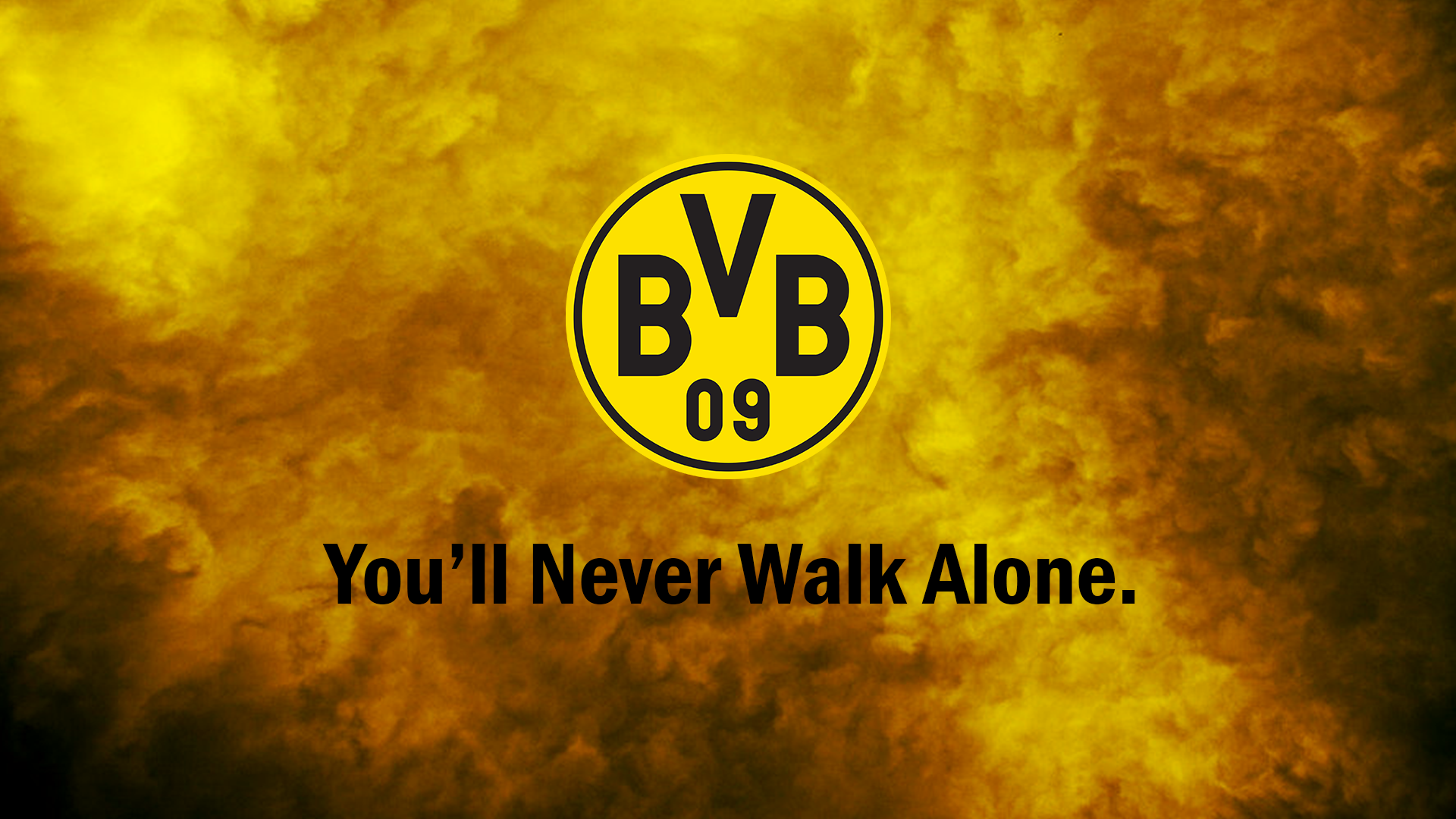 Borussia Dortmund BVB Youll Never Walk Alone by DirtyC0re 1920x1080