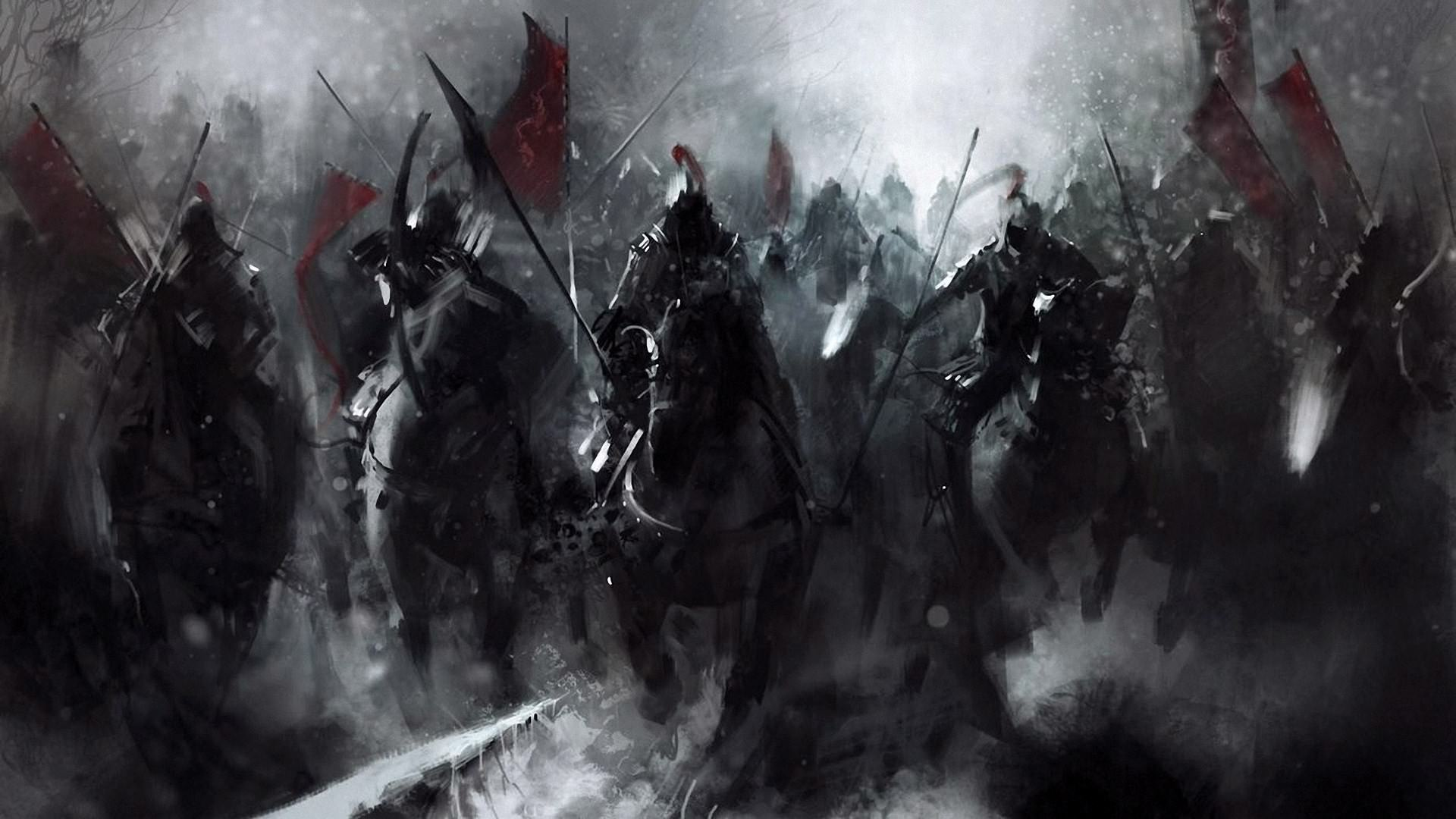 Dark Fantasy Horsemen Wallpaper   DigitalArtio 1920x1080