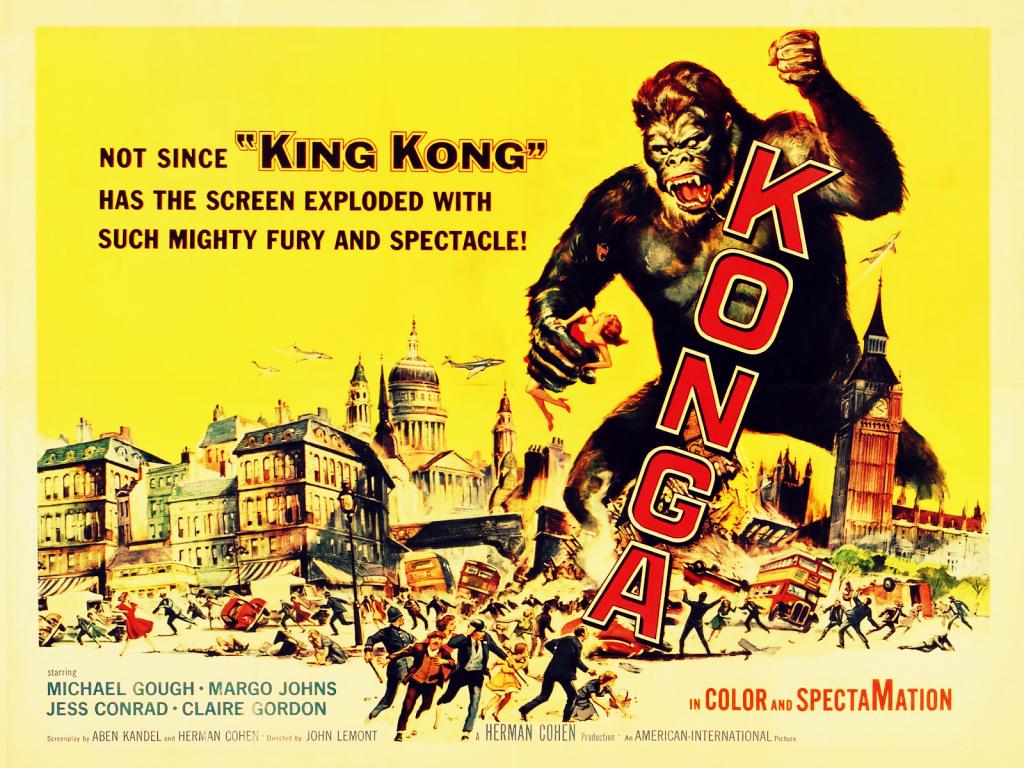 1024x768 Vintage Cinema Konga desktop PC and Mac wallpaper 1024x768