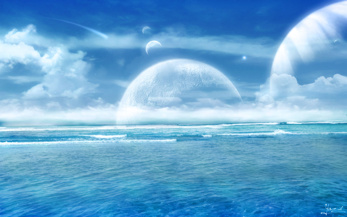 Magical Ocean Horizon Widescreen Wallpaper Hd Wide Desktop Background 1440x900