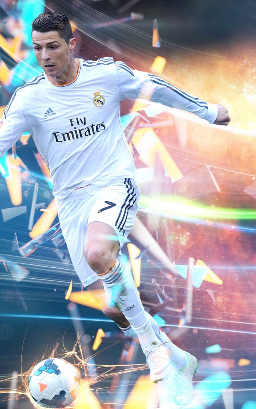 Cristiano Ronaldo In Action   Download HD Mobile Wallpapers 1000x1600