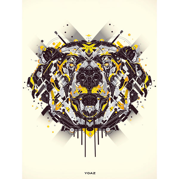 FunMozar Interesting Geometric Animal Wallpaper 600x600