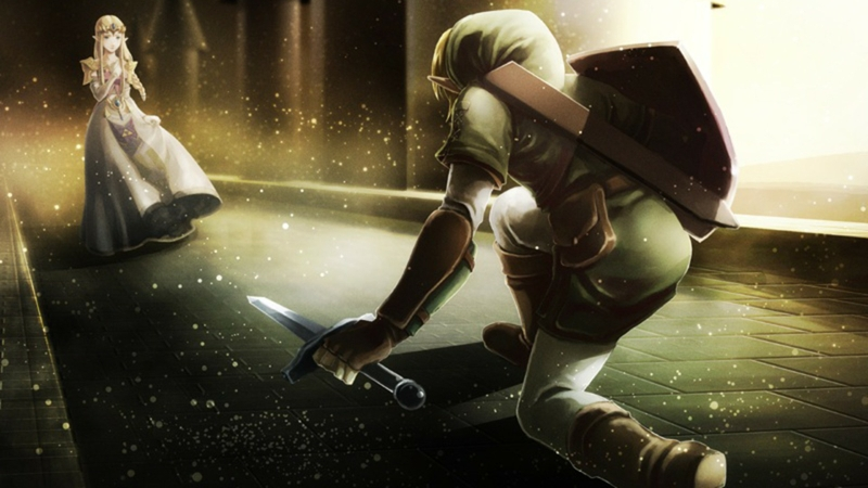 link shield the legend of zelda oracle swords 1920x1080 wallpaper 800x450