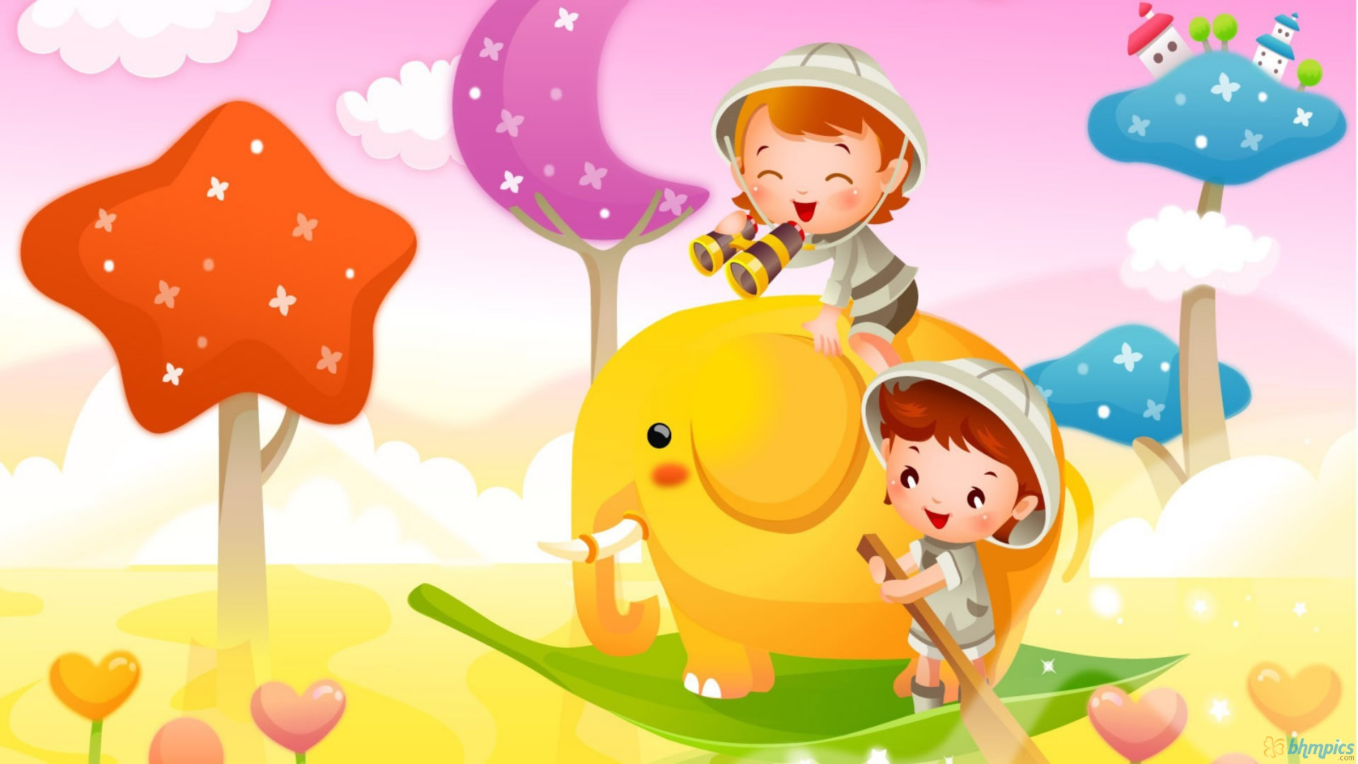 Cartoon Backgrounds Cute 1920x1080