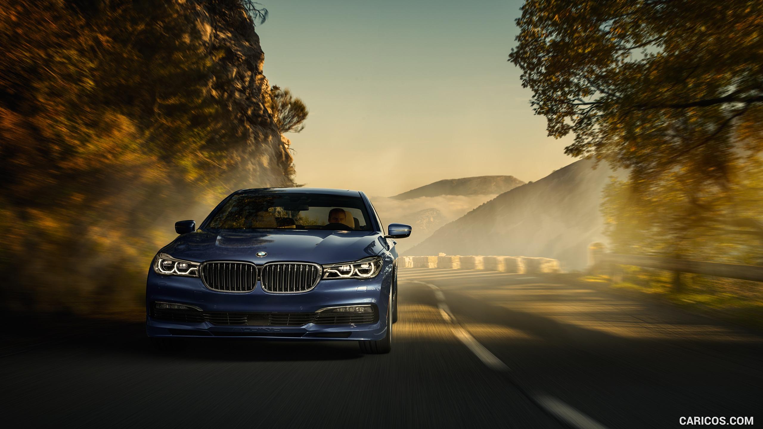 2017 ALPINA BMW B7 xDrive Blue   Front HD Wallpaper 2 2560x1440
