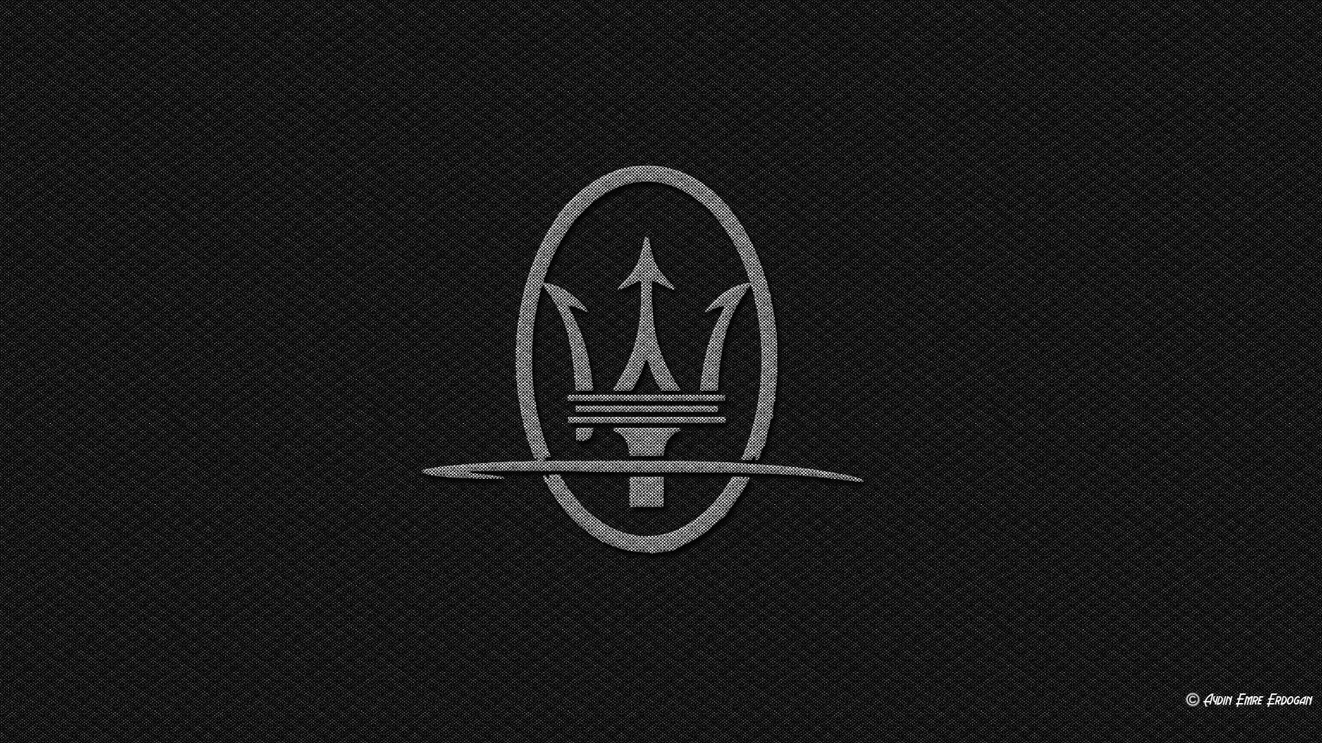 Maserati Logo Carbon Fiber Wallpapers HD Desktop and Mobile 1920x1080