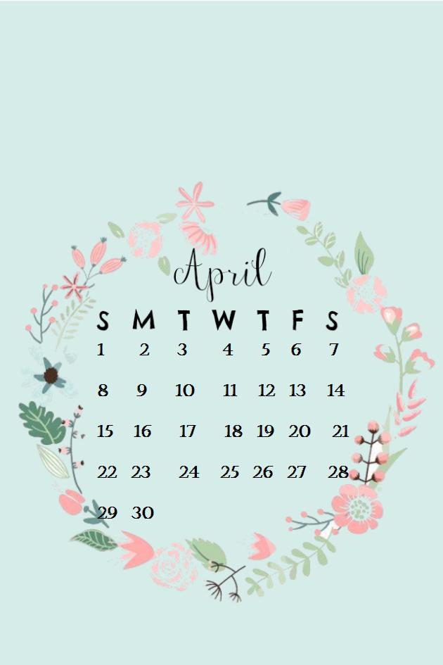 April 2018 iPhone Calendar Wallpaper MaxCalendars Calendar 630x945