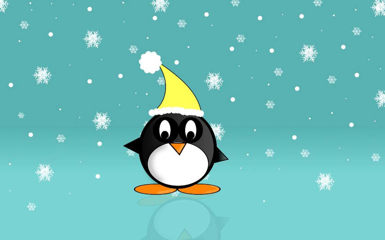 Cute Penguin Backgrounds - WallpaperSafari Cute Christmas Penguin Wallpaper
