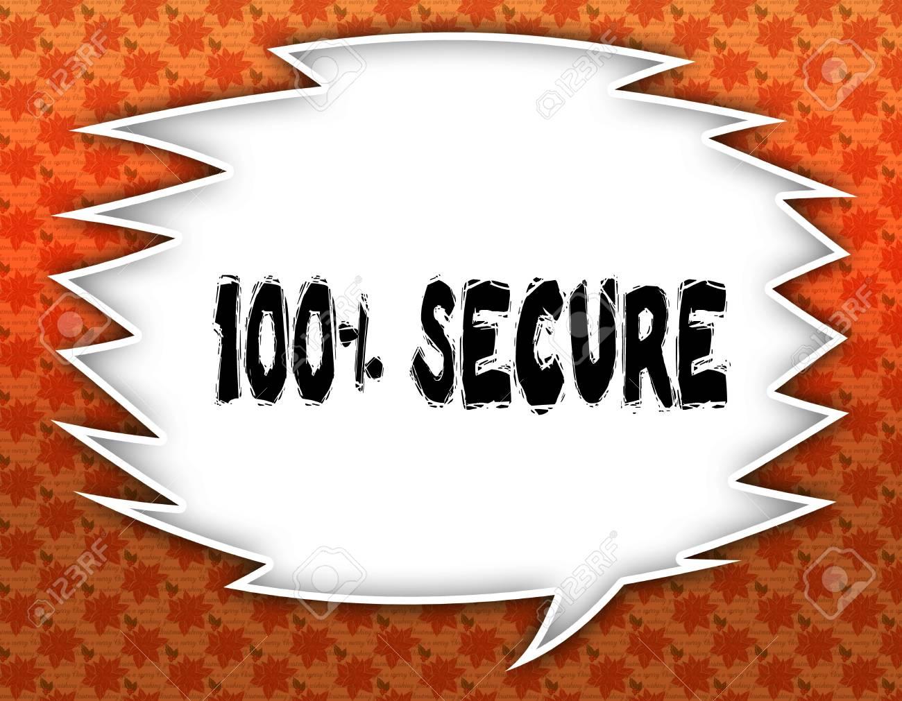 Speech Balloon With 100 PERCENT SECURE Text Flowery Wallpaper 1300x1011