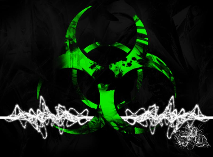 Green Biohazard Wallpaper 900x662