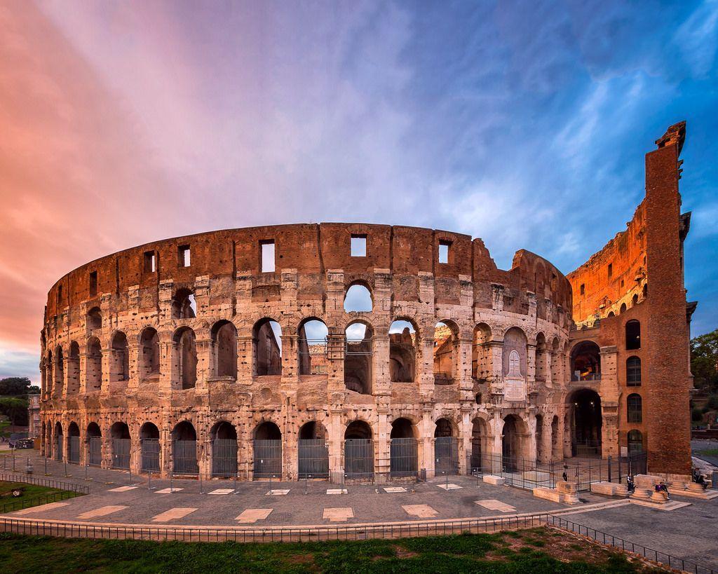 Roman Colosseum Flavian Amphitheatre in the Evening Rome Italy 1024x819