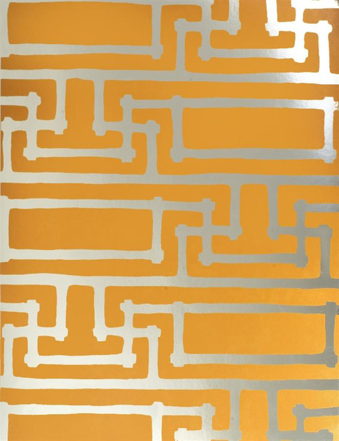 Yvans Geometric Gold Wallpaper   Wallpaper   los angeles   by Weego 492x640