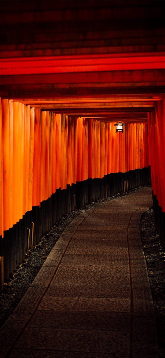 Fushimi inari taisha kyoto japan iPhone X Wallpaper Download 640x1385