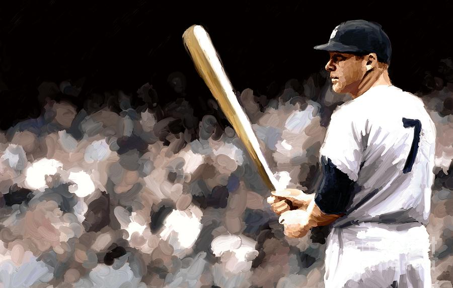 mickey mantle prints image search results