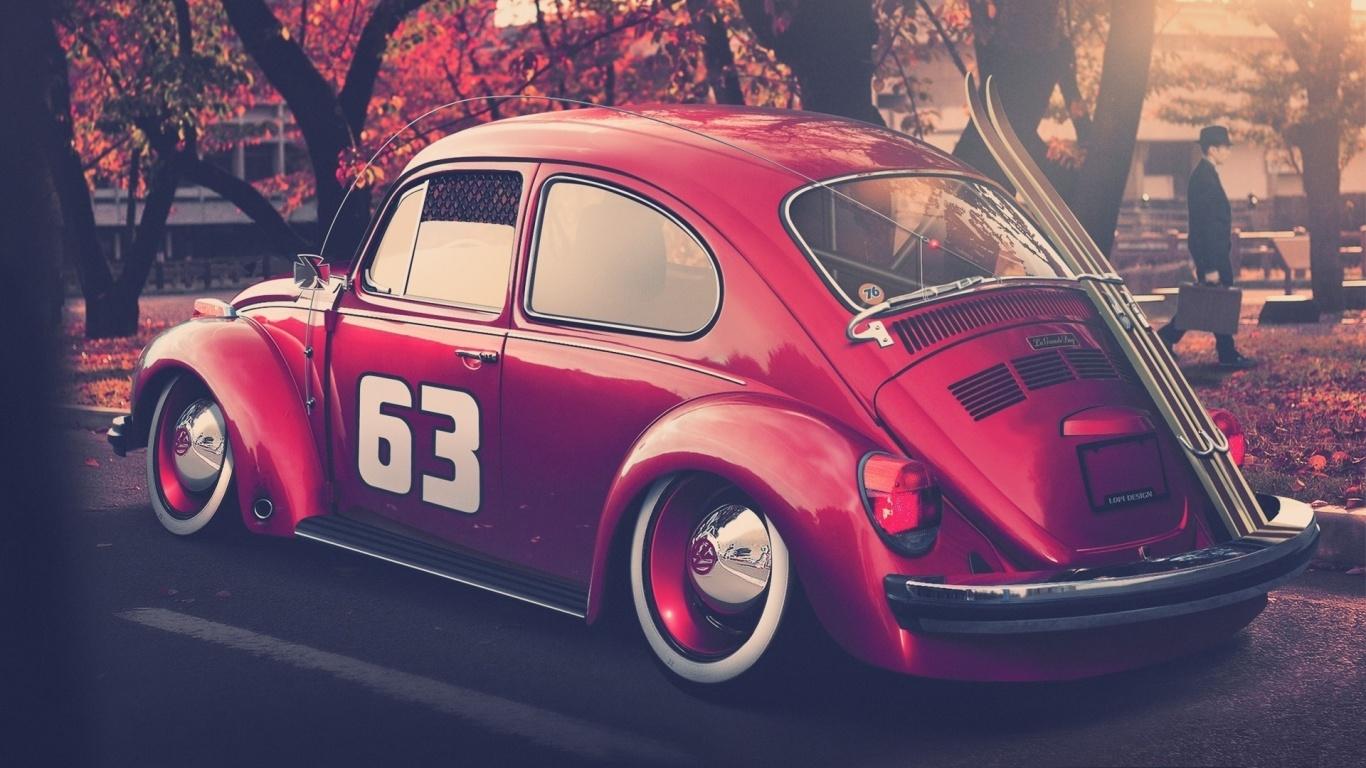 Volkswagen Beetle 1366x768 wallpaperresimlerituningmodifiye 1366x768