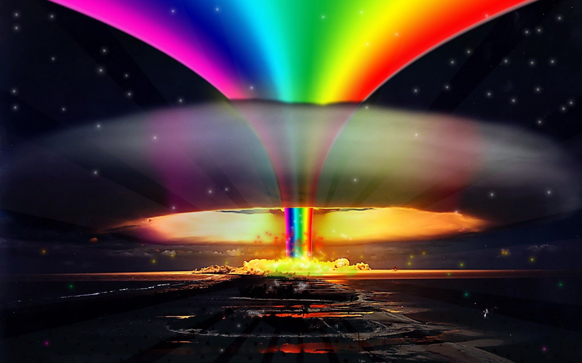 explosions pride rainbows selective coloring gay wallpaper background 1920x1200