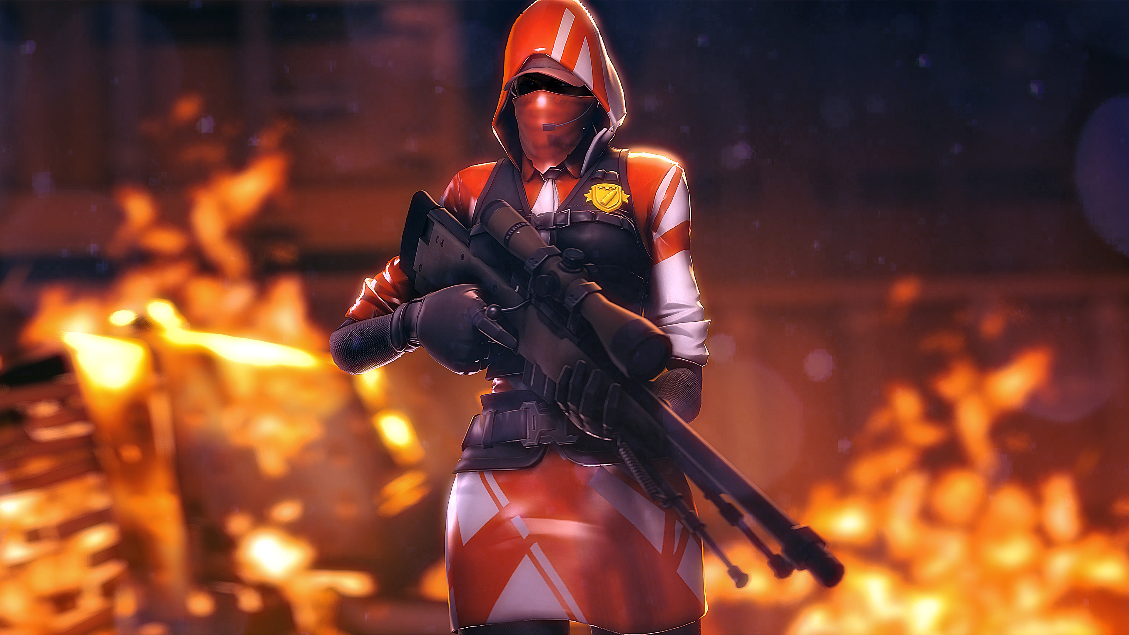 Wallpaper 4k Ace Sniper Rifle Fortnite Battle Royale 2018 games 3840x2160